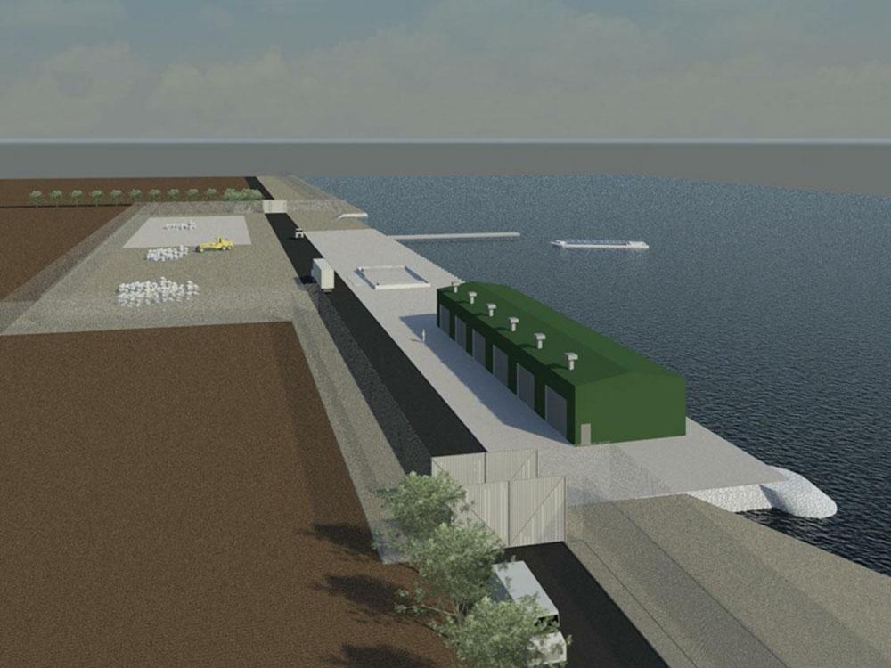 Along Aggregate Dock Upgrade/Oil Spill Response Facility